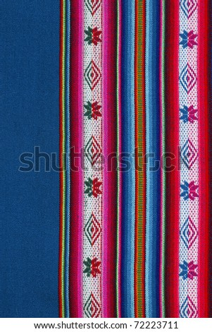 Woven wool fabric from Bolivia - stock photo