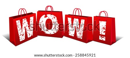 Wow Price - Wow item - Raster Version - stock photo