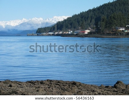 Wrangell Alaska in Winter - stock photo