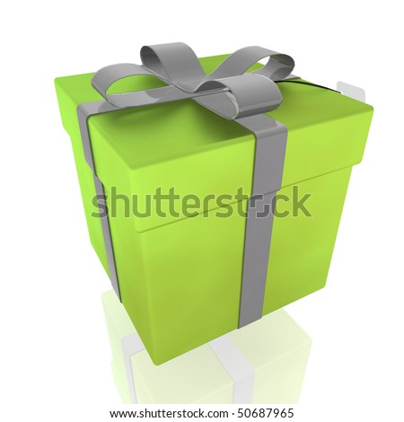 Wrapped fancy ribbon present package gift illustration isolated