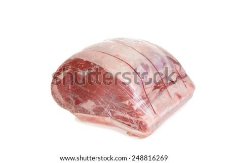 wrapped prime rib roast - stock photo