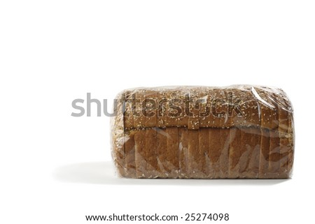 Wrapped Sliced Organic bread - stock photo