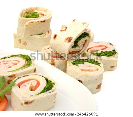 wrapped tortilla sandwich rolls