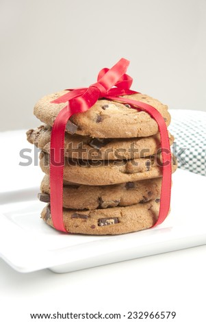 Wrapped up cookies. - stock photo