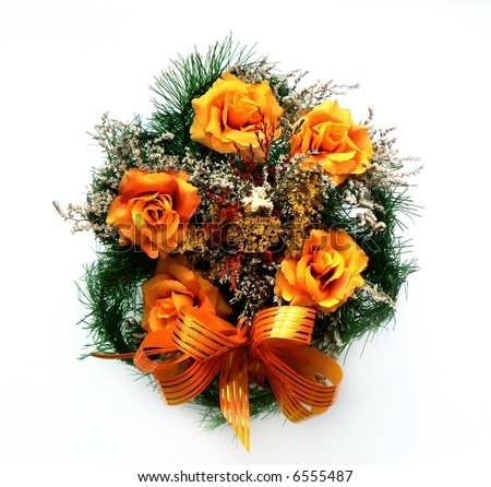 Cemetery Flowers Funeral Grave Wreath Stock Images