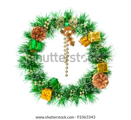Wreath isolated on white - stock photo