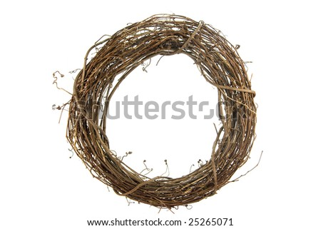 Wreath on White - stock photo
