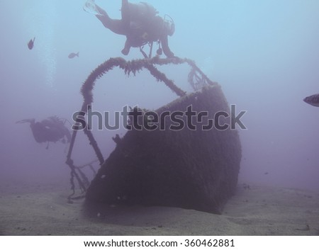 Wreck diving in Tenerife,canary islands - stock photo
