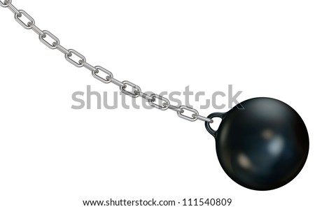 Wrecking ball - stock photo