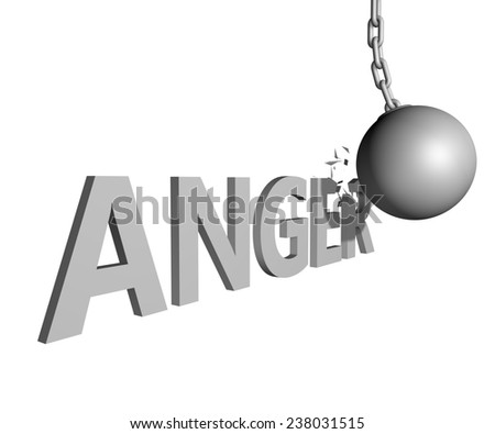 wrecking ball ending anger issue - stock photo