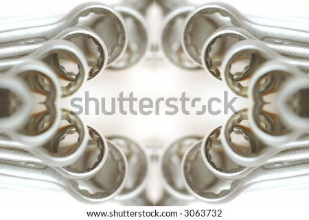 wrench frame - stock photo