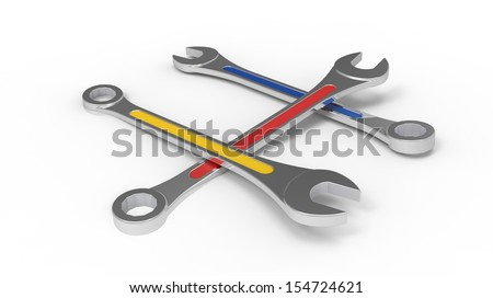 wrench isolate on white background