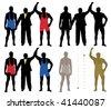 Wrestler winner - stock vector