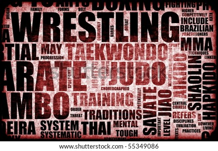 Wrestling Martial Arts as a Fighting Style - stock photo