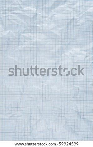 wrinkle blue graph paper - stock photo