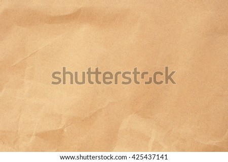 wrinkle craft paper texture background - stock photo