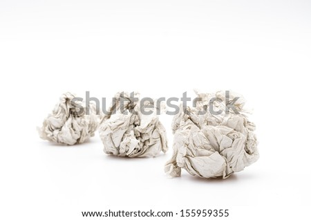 Wrinkle paper on white background