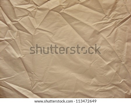 wrinkled canvas cloth texture background - stock photo