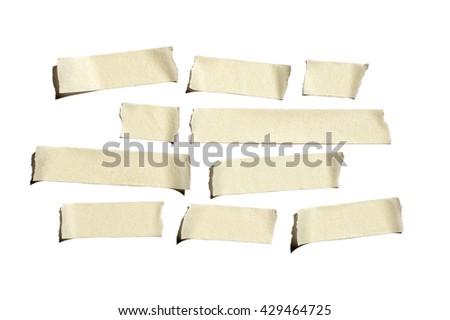 Wrinkled masking tape - stock photo