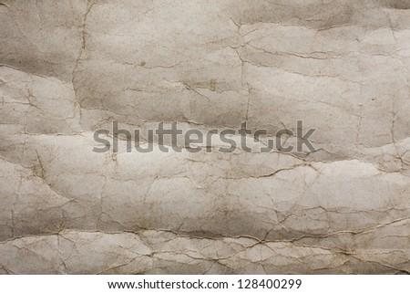 wrinkled old paper texture - stock photo