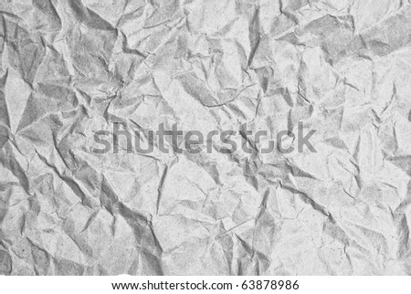 wrinkled paper harden texture closeup as a background - stock photo