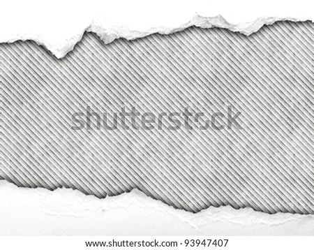 wrinkled paper on stripes - stock photo