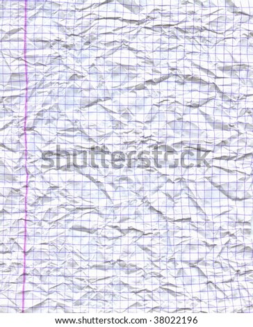 Wrinkled paper sheet - stock photo