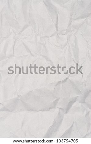 wrinkled paper texture - stock photo