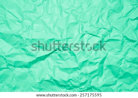 wrinkled paper, used as background texture - stock photo