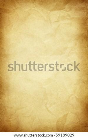 wrinkled pattern vintage paper background - stock photo