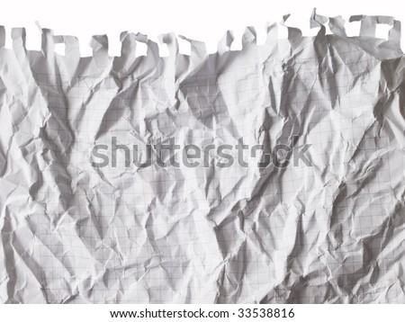 wrinkled piece of paper - stock photo