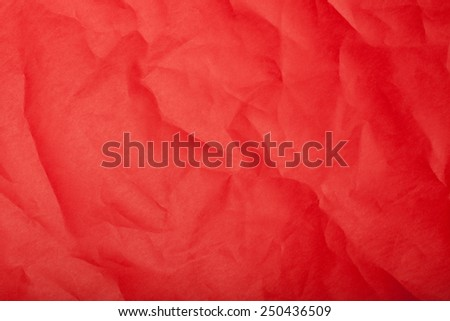 wrinkled red paper texture - stock photo