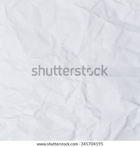 Wrinkled white paper background. - stock photo