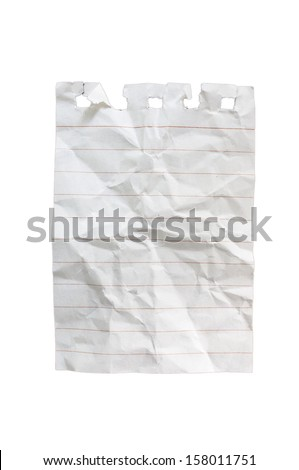 Wrinkles caused by the use of paper - stock photo