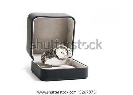 Wrist-watch in black box