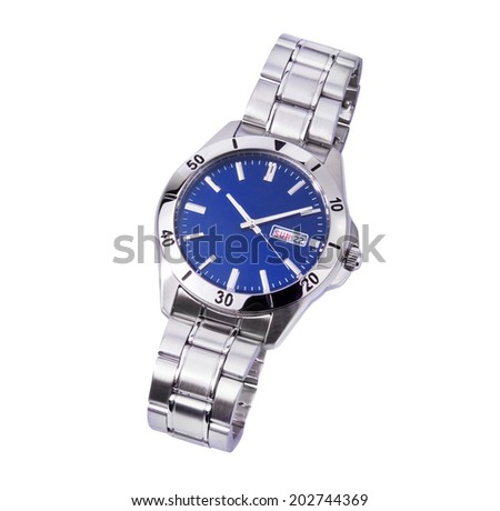 Wrist watch isolated - stock photo