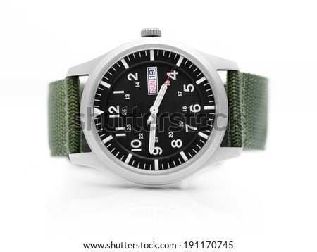 Wrist watch on white - stock photo