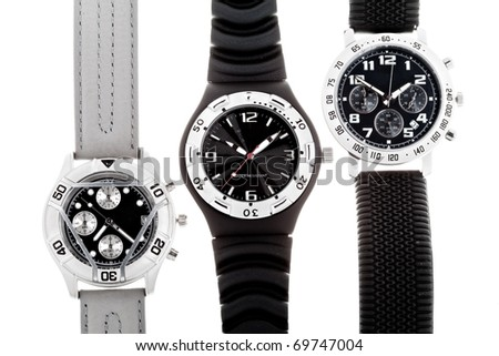 Wrist watches with several dials - stock photo