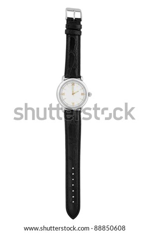 Wristwatch isolated on a white background - stock photo