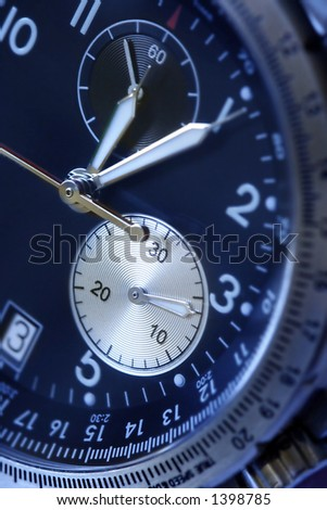 wristwatch with  Chronograph - stock photo