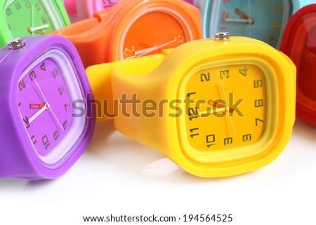 Wristwatches on a white background - stock photo
