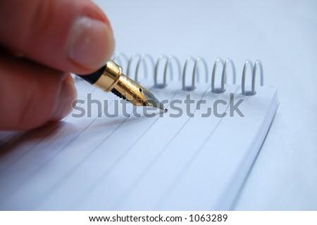 write - stock photo