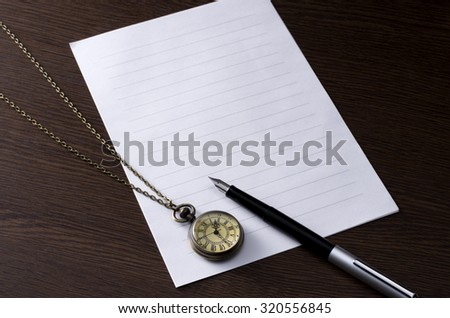 write a letter - stock photo