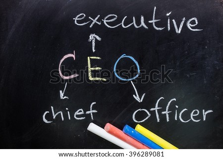 Write blackboard is CEO.