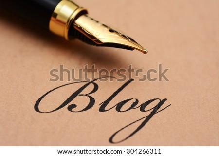Write blog concept - stock photo
