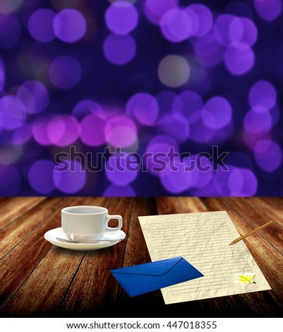 Write letter with drink hot coffee at night