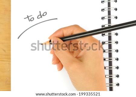 """Write """"to do"""" list - stock photo"""