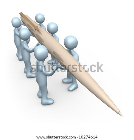 Write Together - stock photo