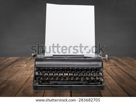 Write, writer, paper. - stock photo