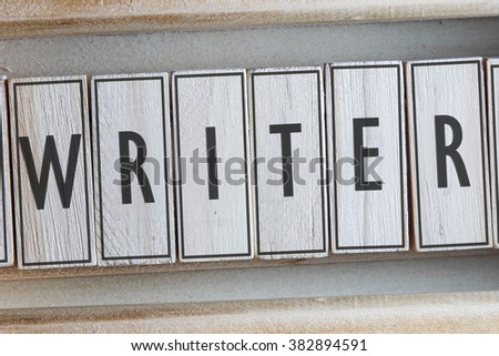 WRITER word on wood blocks concept - stock photo